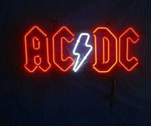 neon, ac dc, and rock image