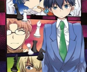anime, fan, and chess pieces image