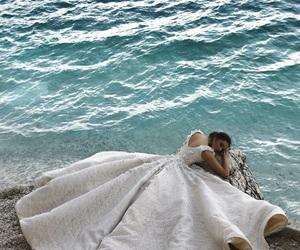 dress, princess, and sea image
