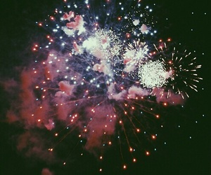 fireworks, night, and grunge image