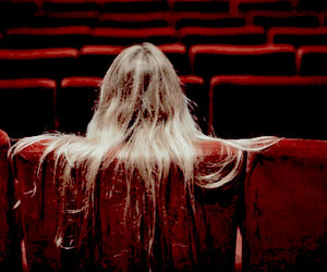 girl, red, and cinema image