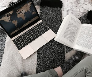 apple, book, and cosy image