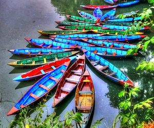 nature, boats, and colors image