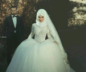 hijab, loveislam, and wedding image
