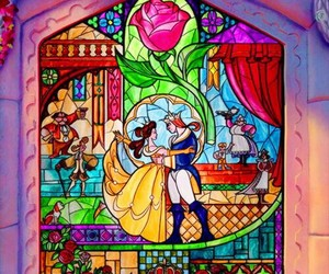 beauty and the beast, disney, and princess image