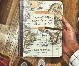 travel, world, and book image