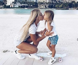family, kiss, and daughter image