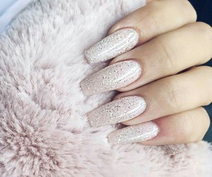 nails, glitter, and beautiful image