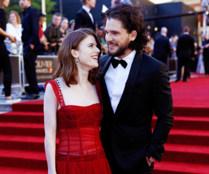 kit harington and rose leslie image