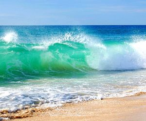 waves, beach, and sea image