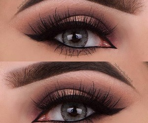 eyeshadow, makeup, and eye image