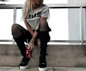 coca cola, girl, and tumblr image