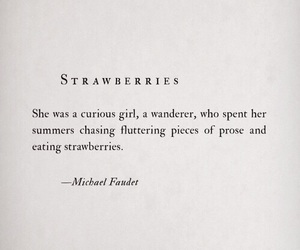 quotes, strawberry, and summer image