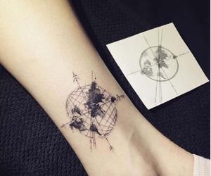 arrow, carte, and map image