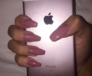 iphone, rose gold, and nails image