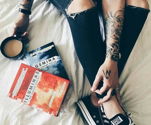 black, girl, and books image