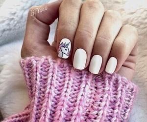 nails, unicorn, and white image