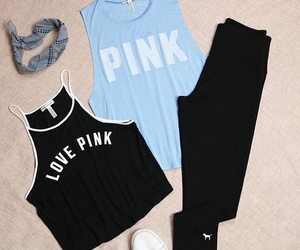 clothes, outfit, and pink image