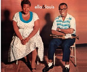 album, ella fitzgerald, and louis armstrong image