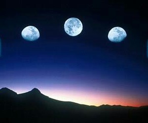 moon, night, and header image