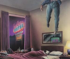 art, hotel, and retro image