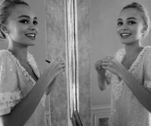 black and white, model, and lily rose depp image