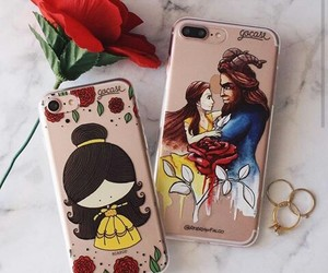 beauty, case, and flower image