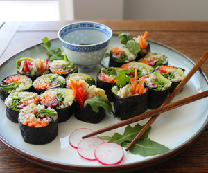 sushi, food, and asian image