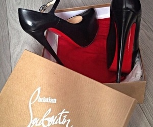 shoes, black, and louboutin image