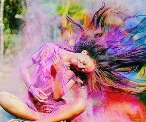 chalk, festival of colors, and happiness image