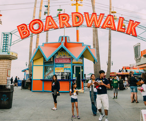 boardwalk and travel image