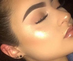 aesthetic, eyebrows, and eyeshadow image