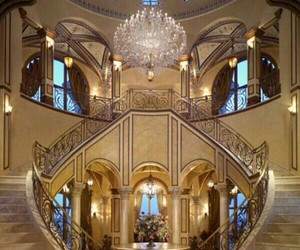 staircase. fancy. golden. image
