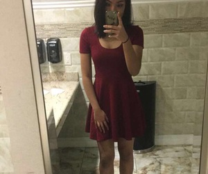 bathroom, black heels, and burgundy image