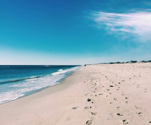 beaches, ocean, and sand image