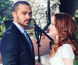 grey's anatomy, jesse williams, and sarah drew image
