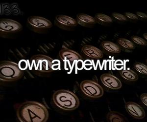 bucket list, before i die, and typewriter image