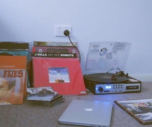 record player, technology, and vinyl records image