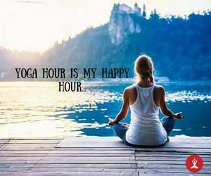 happy, yoga, and love image