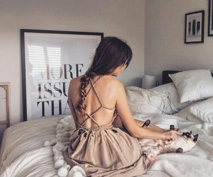 beauty, bed room, and hair image