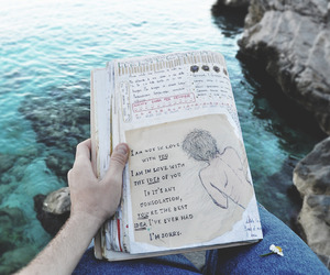 book, sea, and grunge image