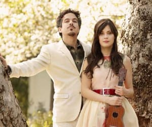 she & him, m ward, and zooey deschanel image