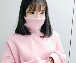 girl, pink, and ulzzang image