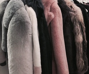 fashion, coat, and fur image