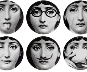 face, fornasetti, and vintage image
