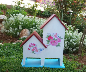 bird house and my garden image