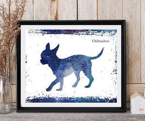 dog art, etsy, and nursery decor image