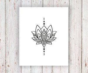 bohemian, etsy, and lotus image