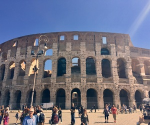 colosseum, roma, and rome image