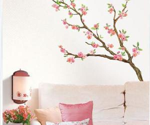 cherry blossom, decoration, and wall sticker image